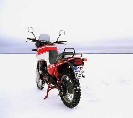 Having winter riding fun